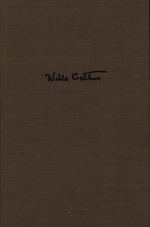 Willa Cather's Collected Short Fiction, 1892-1912