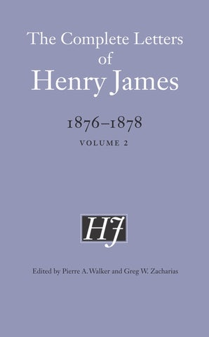 The Complete Letters of Henry James, 1876–1878