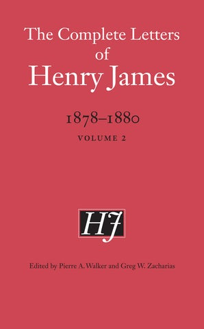 The Complete Letters of Henry James, 1878-1880