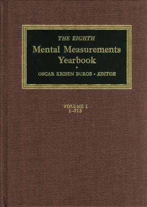 The Eighth Mental Measurements Yearbook (2 Volumes)